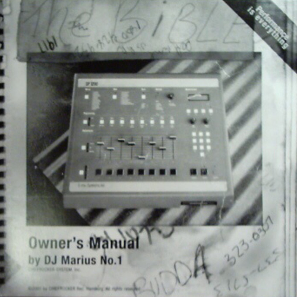 DJ Marius No. 1 – Owners Manual Album